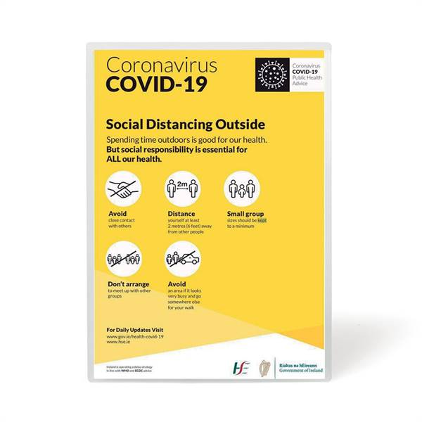 Safety Signage Pockets, A4, repositionable - Corona Virus T3L Shop Tarifold