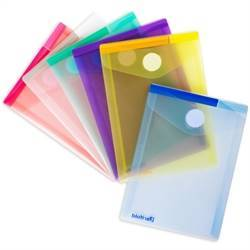 A6 folder with velcro closure, portrait, 6 folders, assorted colors