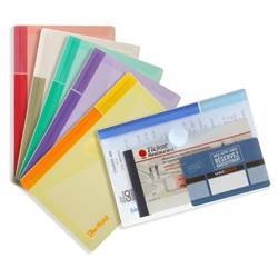 A6 folder with velcro closure, landscape, 6 folders, assorted colors
