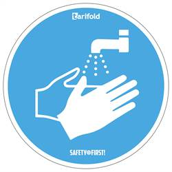 Adhesive Sticker, 'Wash your hands'