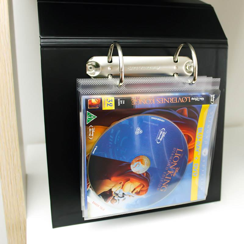 Blu-Ray pockets with binder holes for Blu-Ray storage - 50 pcs.