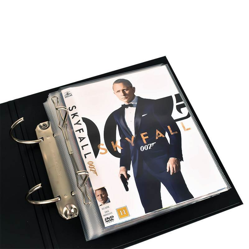 DVD sleeves with binder holes for DVD storage - 100 pcs.
