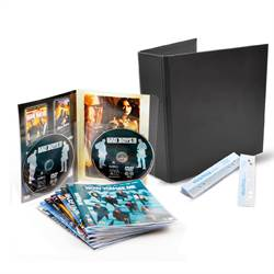 DVD bundle - 50 Double DVD Pockets, 2 DVD Folders, 50 Strips