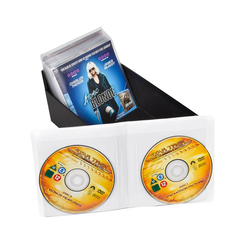 Double Blu-Ray sleeves, space for cover - 50 pcs.