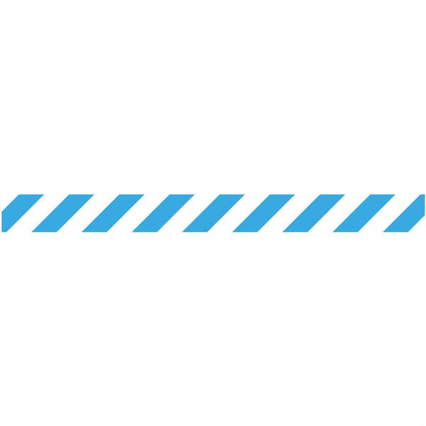 Safety Queue Line, White/blue