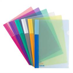 A4 folders in 3 colors, 24 folders in assorted colors