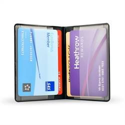 RFID secured credit card holder, folder for 4 cards