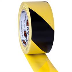 Safety tape roll, yellow/black