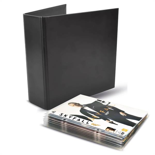 DVD bundle - 100 Single DVD sleeves, 4 DVD binders